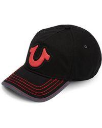 True Religion - Puff Logo Baseball Cap - Lyst