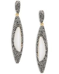Panacea - Crystal & Lucite Luxe Linear Drop Earrings - Lyst