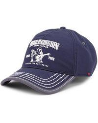 True Religion - Puff Buddha Cotton Baseball Cap - Lyst