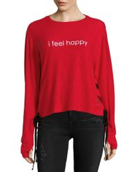 Peace Love World - Lace-up Cropped Top - Lyst