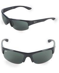 87bcb1ee1e Ray-Ban - 62mm Rectangle Wrap Sunglasses - Lyst