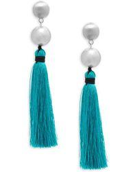 Natasha Couture - Statement Tassel Earrings - Lyst