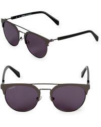 36dce48eb16d Lyst - Balmain Bl2105 Tortoiseshell-look   Gold-tone Flat Top Sunglasses