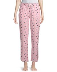 Jane And Bleecker - Printed Pull-on Pyjama Trousers - Lyst