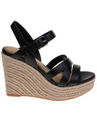 Splendid - Billie Leather Espadrille Wedge Sandals - Lyst
