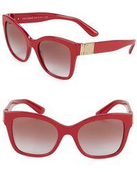 Dolce & Gabbana - Dg4309 53mm Squared Cateye Sunglasses - Lyst