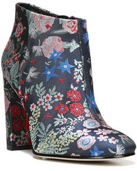 1d2a76df8eb33 Lyst - Sam Edelman Cambell Embroidered Booties in Blue