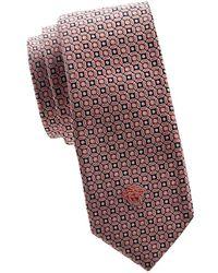 Versace - Printed Silk Tie - Lyst