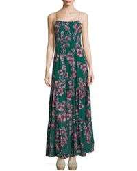 36f075749a0 Lyst - Free People Garden Party Floral Print Maxi Dress in Purple