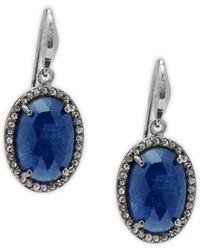Bavna - Sterling Silver, Sapphire & Diamond Earrings - Lyst