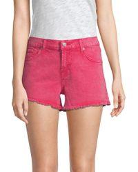 7 For All Mankind - Cut-off Denim Shorts - Lyst