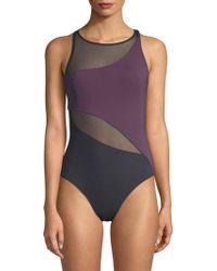 Bleu Rod Beattie - One-piece Mesh-accented Swimsuit - Lyst