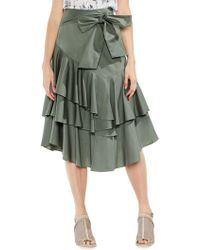 Vince Camuto - Tiered Ruffle Midi Skirt - Lyst