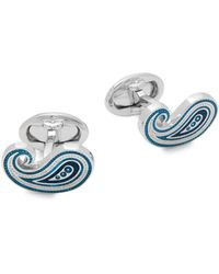 Jan Leslie - Sterling Silver Paisley Cuff Links - Lyst