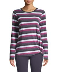 Marc New York - Long Sleeve Striped Knot Tee - Lyst