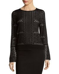 Saks Fifth Avenue Black - Bell Sleeve Pullover Top - Lyst