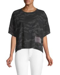 Marc Jacobs - Camouflage Cropped Tee - Lyst