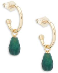 Saks Fifth Avenue - Emerald And 14k Gold Drop Earrings - Lyst