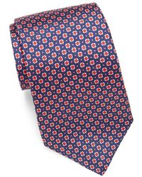 Saks Fifth Avenue - Geometric Patterned Silk Tie - Lyst