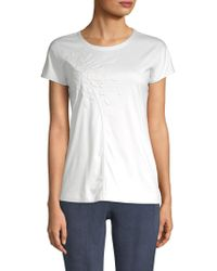Akris - Embossed Graphic Cotton Top - Lyst