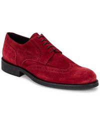 Bugatchi - Siena Wingtip Toe Lace-up Suede Shoes - Lyst