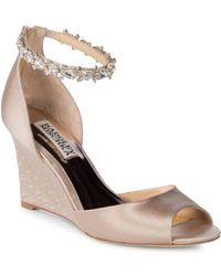 Badgley Mischka - Tahlia Bejeweled Ankle-strap Sandals - Lyst