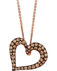 Le Vian - 14k Strawberry Gold Heart Pendant Necklace - Lyst