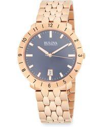 Bulova - Moonview Stainless Steel Bracelet Watch - Lyst