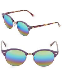 d0f990d173 Ray-Ban 48mm Lightray Round Aviator Sunglasses in Purple - Lyst