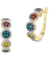 Le Vian - 14k Yellow Gold And Diamonds Hinge Earrings - Lyst