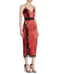 Cinq À Sept - Petra Silk Midi Dress - Lyst