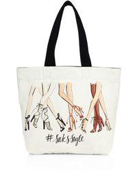 Saks Fifth Avenue - #saksstyle Leg-print Canvas Tote - Lyst