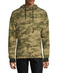 Balmain - Camouflage Hooded Cotton Sweatshirt - Lyst