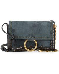 Chloé - Studded Flap Shoulder Bag - Lyst