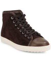Tod's - High-rise Leather Trainers - Lyst