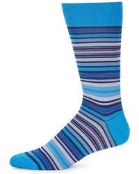 Bugatchi - Multicolored Stripe Socks - Lyst