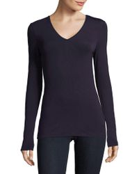 Saks Fifth Avenue Black - Pullover V-neck Jumper - Lyst