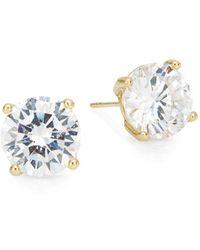 Saks Fifth Avenue - Round Stud Earrings/goldtone - Lyst
