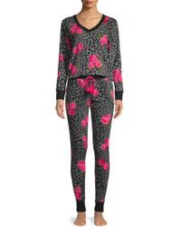 Betsey Johnson - Two-piece Cheetah-print Pajama Set - Lyst
