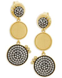Freida Rothman - Baroque Blues Triple Disk Drop Earrings - Lyst