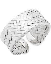 Roberto Coin - Silver Woven Cuff Bracelet - Lyst