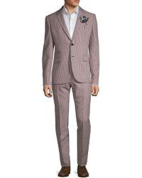 Valentino - Mini Checkered Wool Suit - Lyst