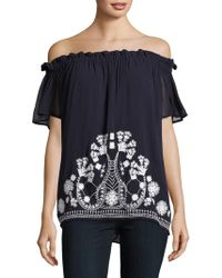 French Connection | Kiko Stitch Off-the-shoulder Top | Lyst