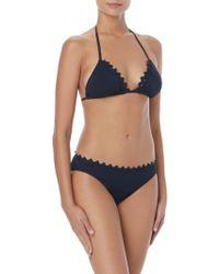 Vince Camuto - Triangle Scallop Bikini Top - Lyst