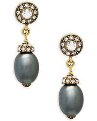 Heidi Daus - Baroque Faux Pearl And Crystal Drop Earrings - Lyst
