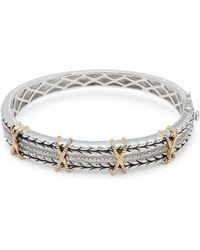 Effy - 18k Yellow Gold Embossed Bangle Bracelet - Lyst