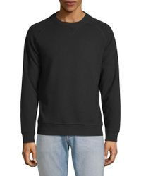 Pure Navy - Faux Shearling Sweatshirt - Lyst