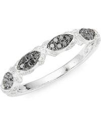 Le Vian - Exotics 14k White Gold, Blackberry Diamond & Vanilla Diamond Ring - Lyst