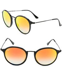 64ebc0ae1ee Lyst - Ray-Ban Black Rb4258 Round Sunglasses in Black