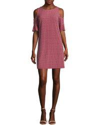 Donna Morgan - Cold Shoulder Dress - Lyst